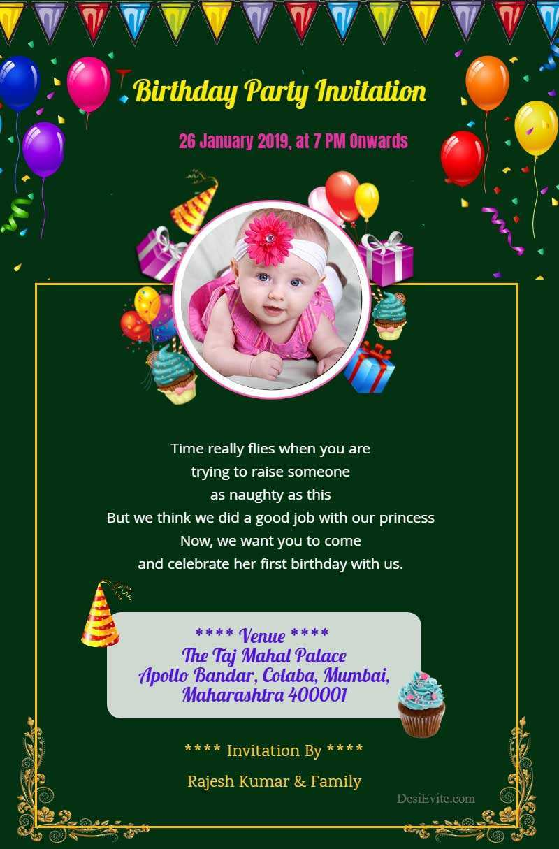 77 How To Create 1St Year Birthday Invitation Card Template Templates for 1St Year Birthday Invitation Card Template