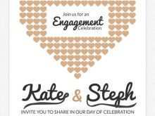 Engagement Invitation Card Blank Template