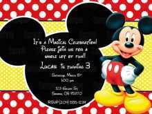 77 How To Create Mickey Mouse Blank Invitation Template Now with Mickey Mouse Blank Invitation Template