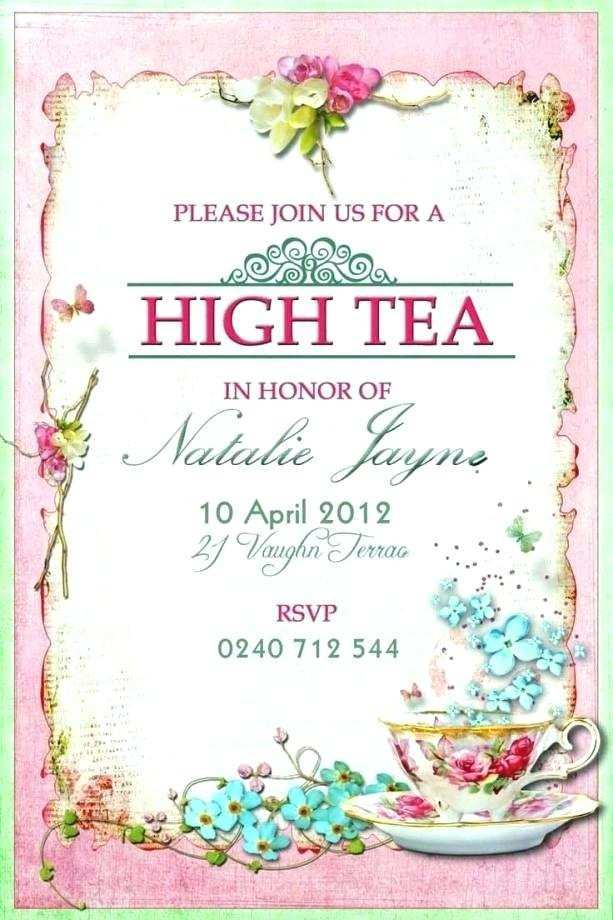 77 Visiting Afternoon Tea Party Invitation Template Download for Afternoon Tea Party Invitation Template