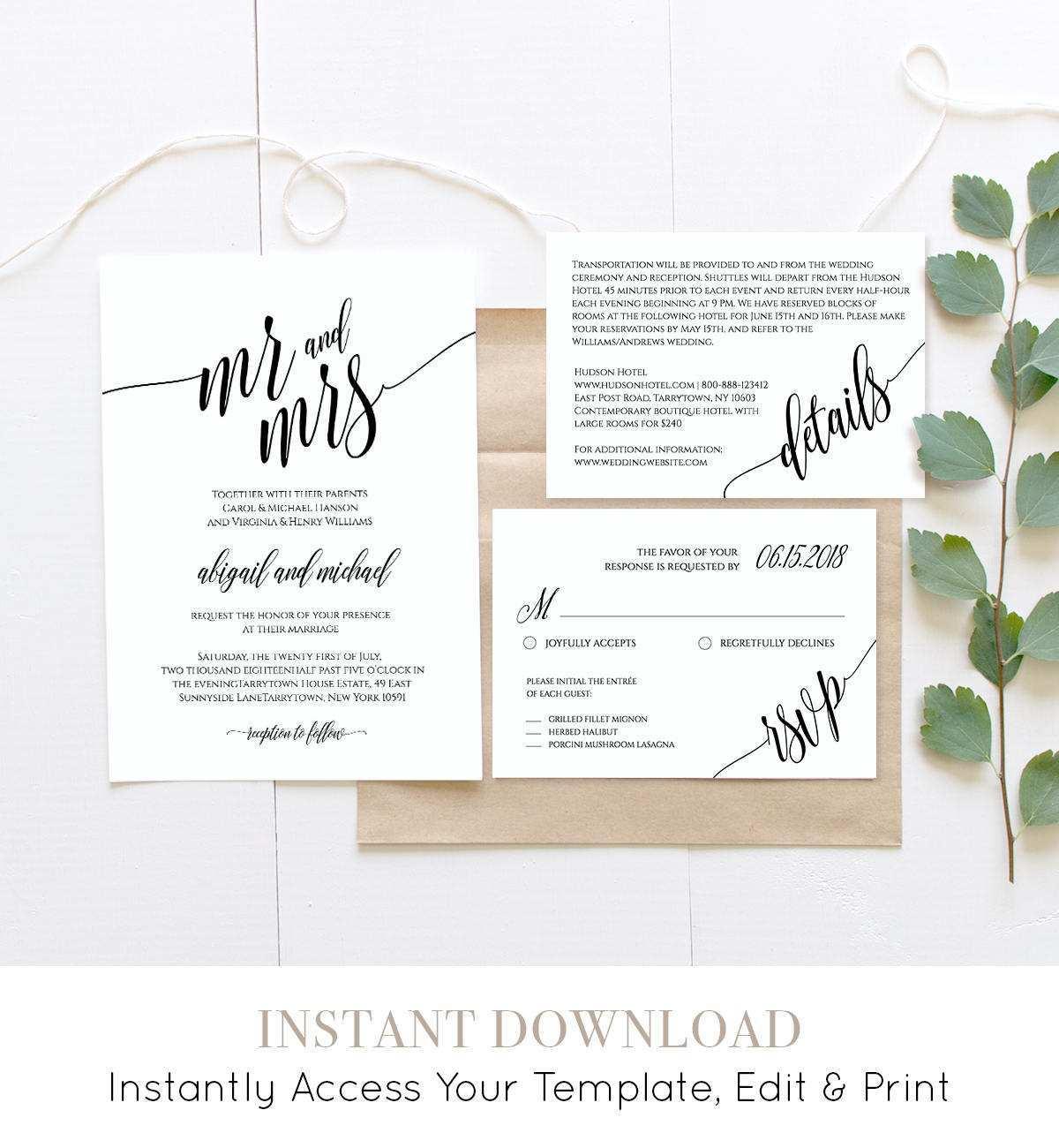 78 Adding Wedding Invitation Template Rsvp for Ms Word by Wedding Invitation Template Rsvp