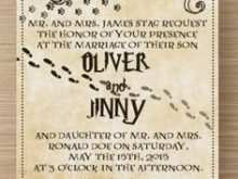 78 Creating Harry Potter Wedding Invitation Template Templates by Harry Potter Wedding Invitation Template
