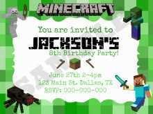 78 Customize Birthday Invitation Template Minecraft Layouts for Birthday Invitation Template Minecraft