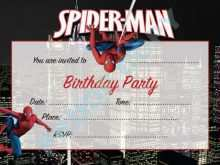78 Customize Spiderman Party Invitation Template Free Maker by Spiderman Party Invitation Template Free