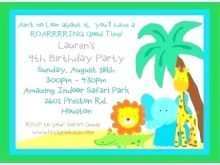 78 Customize Zoo Birthday Party Invitation Template in Photoshop for Zoo Birthday Party Invitation Template
