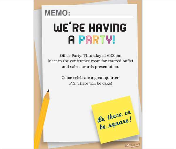 78 Format Office Party Invitation Template in Word by Office Party Invitation Template