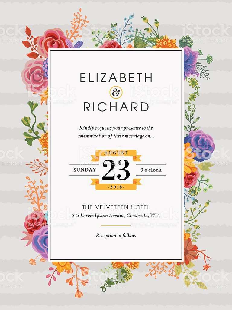 78 How To Create Floral Wedding Invitation Template Templates with Floral Wedding Invitation Template