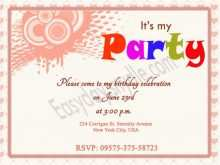 Online Birthday Invitation Template Girl