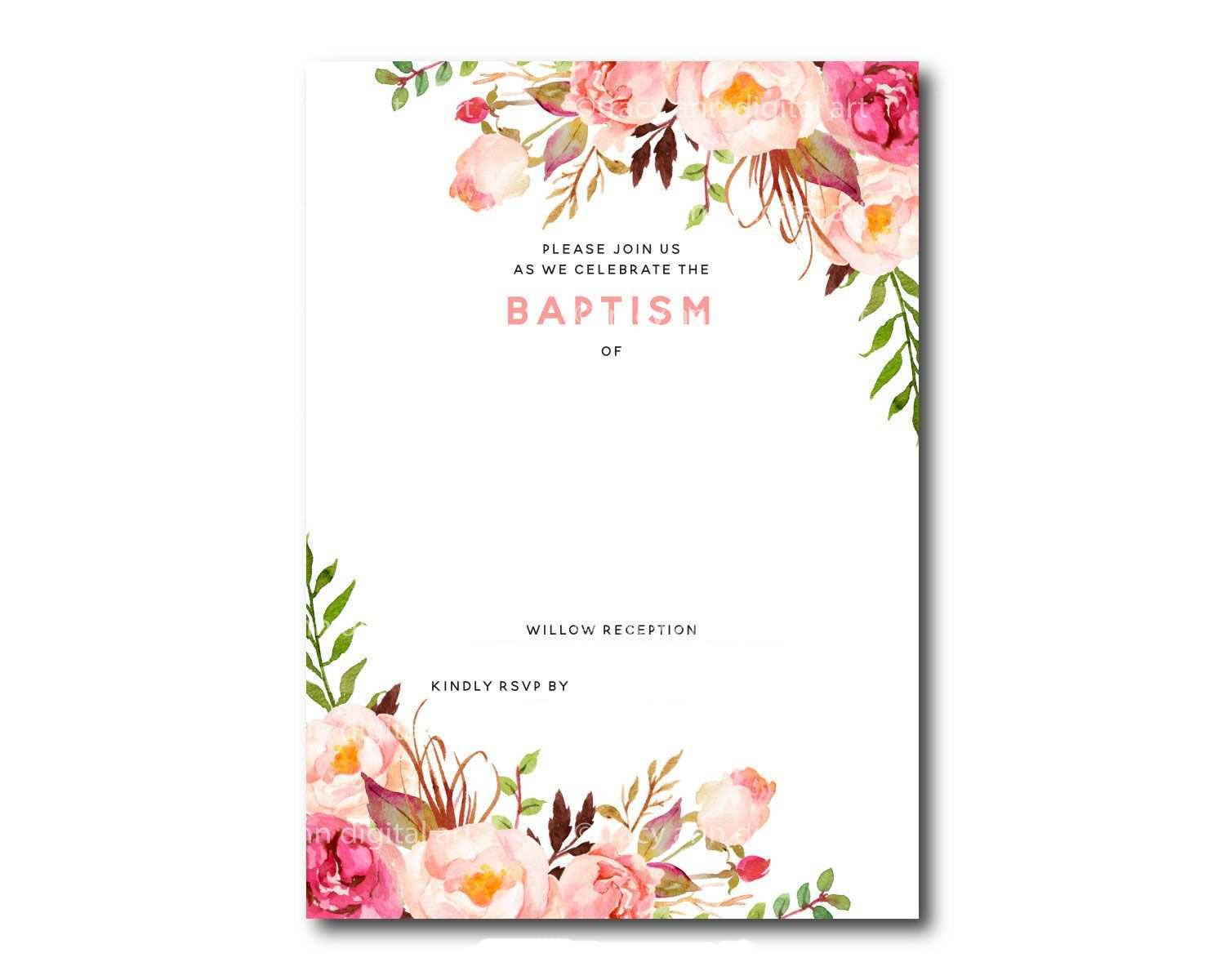 78 Printable Blank Baptism Invitation Template in Word for Blank Baptism  Invitation Template - Cards Design Templates