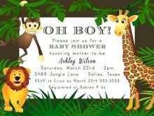 78 Printable Jungle Party Invitation Template Maker with Jungle Party Invitation Template