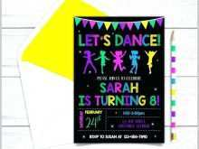78 The Best Dance Party Invitation Template Now with Dance Party Invitation Template