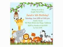 78 The Best Jungle Party Invitation Template Free Now for Jungle Party Invitation Template Free