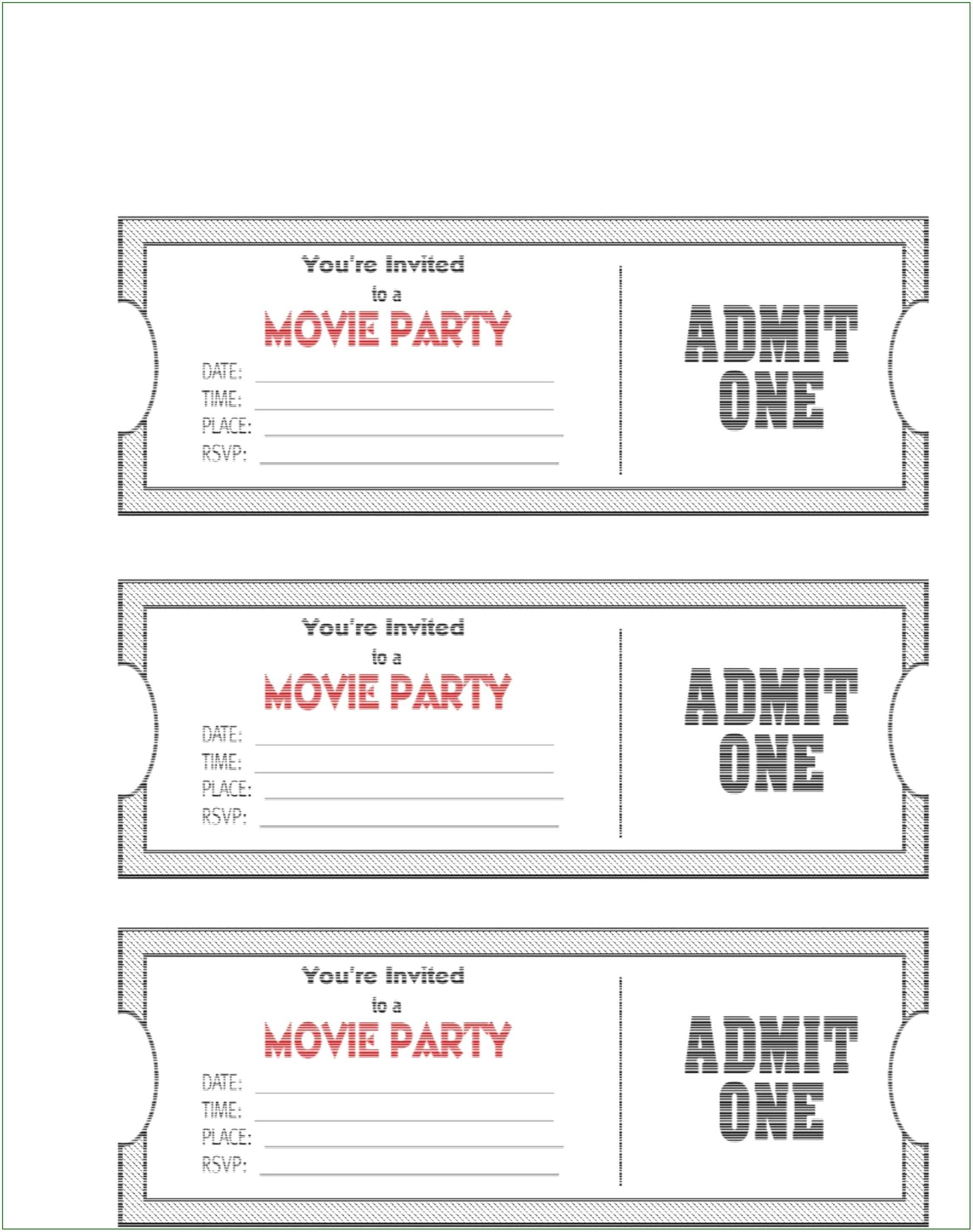 4 Best Blank Movie Ticket Invitation Template Now by Blank Movie