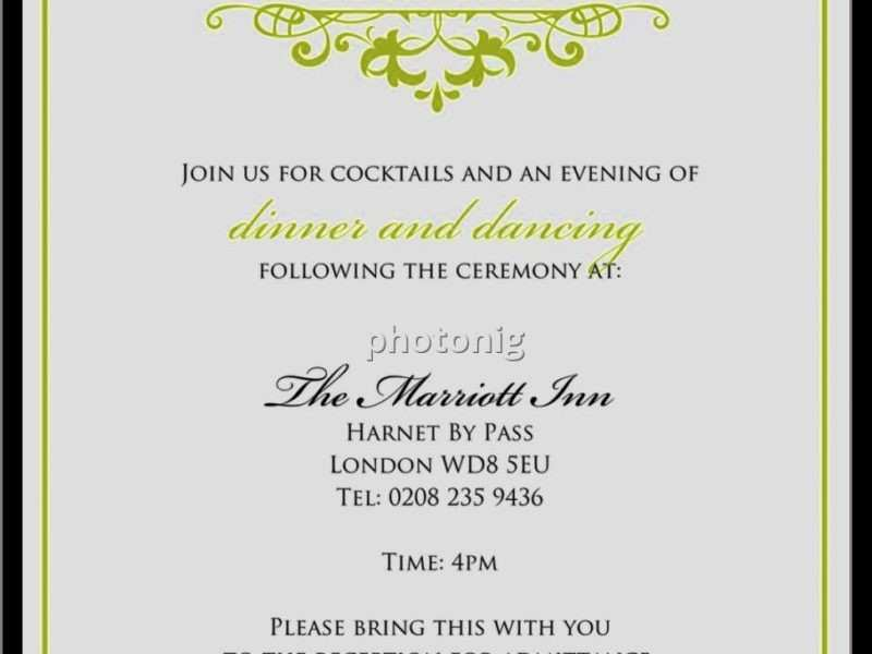 79 Creating Wedding Dinner Invitation Text Message Formating with Wedding Dinner Invitation Text Message
