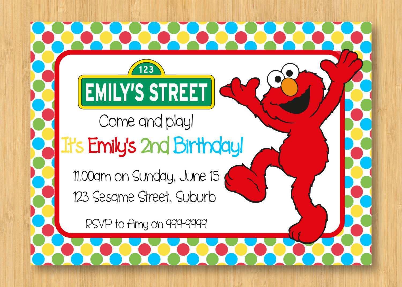 79 Format Elmo Birthday Invitation Template in Word with Elmo Birthday Invitation Template