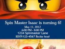 Ninjago Party Invitation Template Free