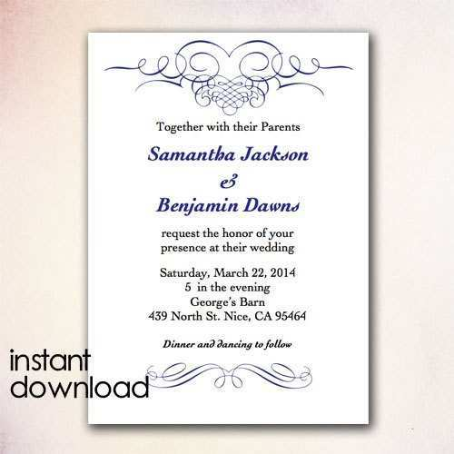 79 Online Wedding Invitation Template In Word Layouts for Wedding Invitation Template In Word