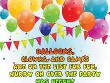 79 Printable Birthday Invitation Template Balloons Download with Birthday Invitation Template Balloons