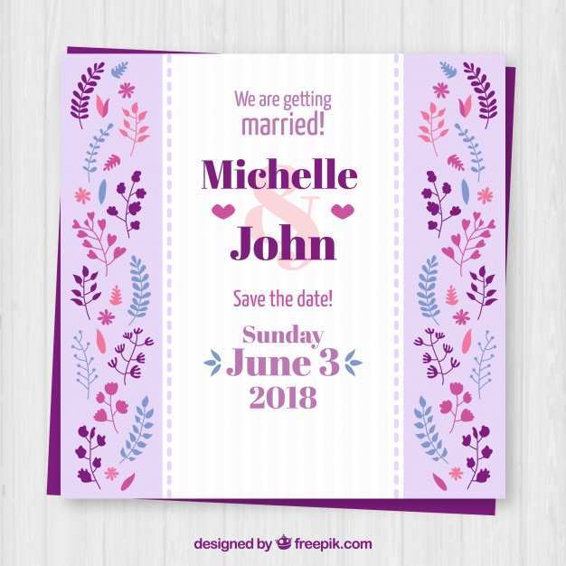 79 Printable Wedding Invitation Templates Violet in Photoshop with Wedding Invitation Templates Violet