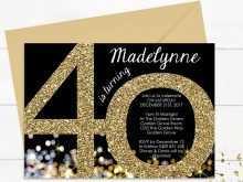 80 Adding Birthday Invitation Template Black And Gold Photo by Birthday Invitation Template Black And Gold