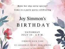 80 Adding Birthday Invitation Template For Word Download with Birthday Invitation Template For Word