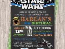80 Creative Star Wars Birthday Invitation Template For Free with Star Wars Birthday Invitation Template