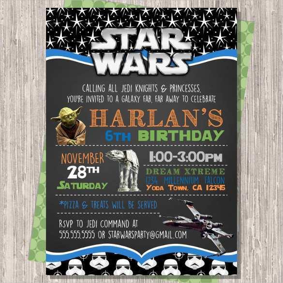 Star Wars Invitation Template Free from legaldbol.com