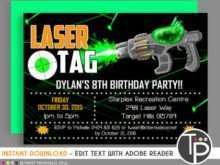 Birthday Invitation Template Laser Tag