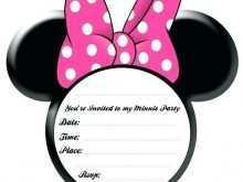 80 Format Minnie Mouse Birthday Invitation Template Layouts with Minnie Mouse Birthday Invitation Template