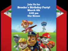 80 Free Paw Patrol Birthday Invitation Template Free PSD File by Paw Patrol Birthday Invitation Template Free