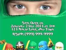 80 Report Ninjago Party Invitation Template for Ms Word with Ninjago Party Invitation Template