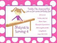 80 Standard Birthday Party Invitation Template Gymnastics With Stunning Design by Birthday Party Invitation Template Gymnastics
