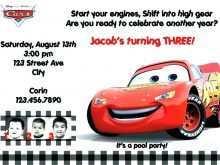 80 Standard Cars Birthday Invitation Template Free Maker for Cars Birthday Invitation Template Free