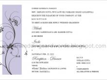 80 Standard Reception Invitation Card Wordings With Stunning Design with Reception Invitation Card Wordings