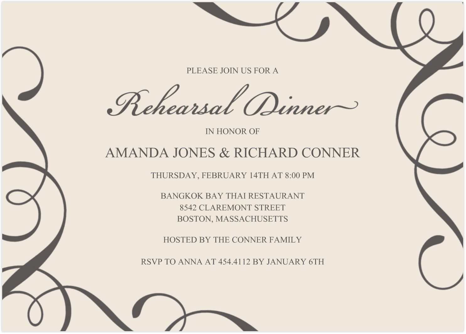 81 Best Dinner Invitation Template Editable Photo with Dinner Invitation Template Editable
