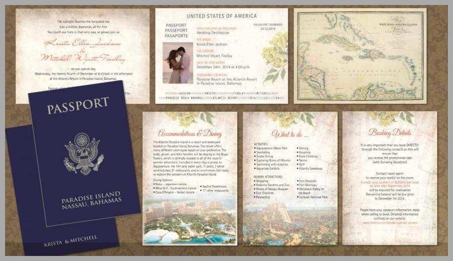 81 Best Free Passport Wedding Invitation Template For Free with Free Passport Wedding Invitation Template