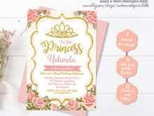 81 Create Princess Birthday Invitation Template PSD File by Princess Birthday Invitation Template