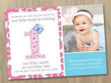 81 Creating Birthday Invitation Template For Baby Girl PSD File by Birthday Invitation Template For Baby Girl