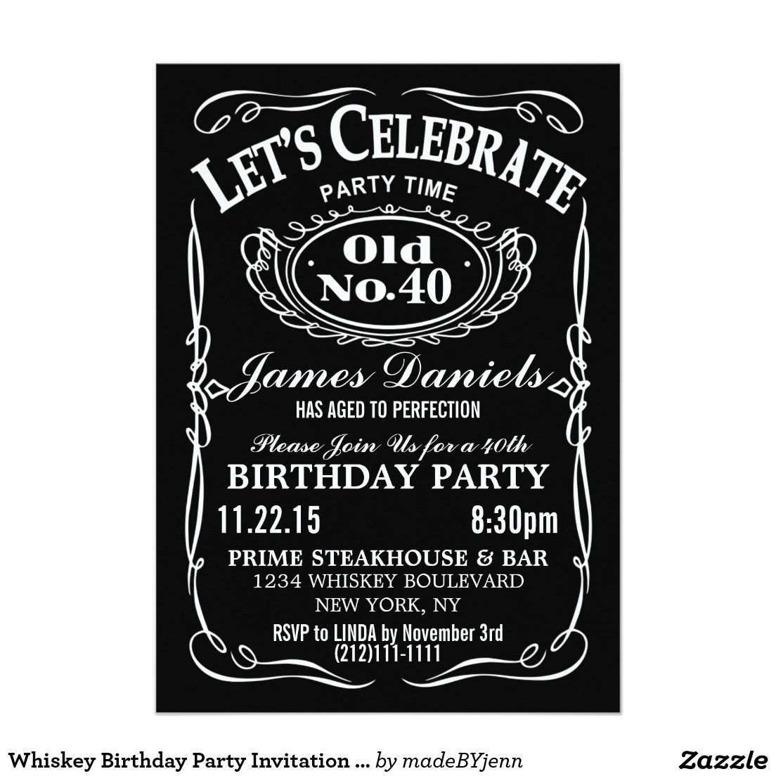 5 Format Jack Daniels Blank Invitation Template Now with Jack