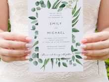 81 Format Wedding Invitation Template Eucalyptus Now with Wedding Invitation Template Eucalyptus