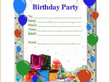 81 Free Printable Birthday Invitation Template For Word Maker with Birthday Invitation Template For Word
