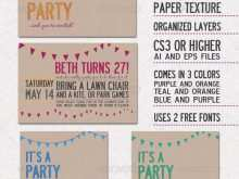 81 Free Printable Party Invitation Template Indesign Now with Party Invitation Template Indesign