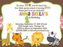 81 Online Jungle Party Invitation Template Free With Stunning Design by Jungle Party Invitation Template Free