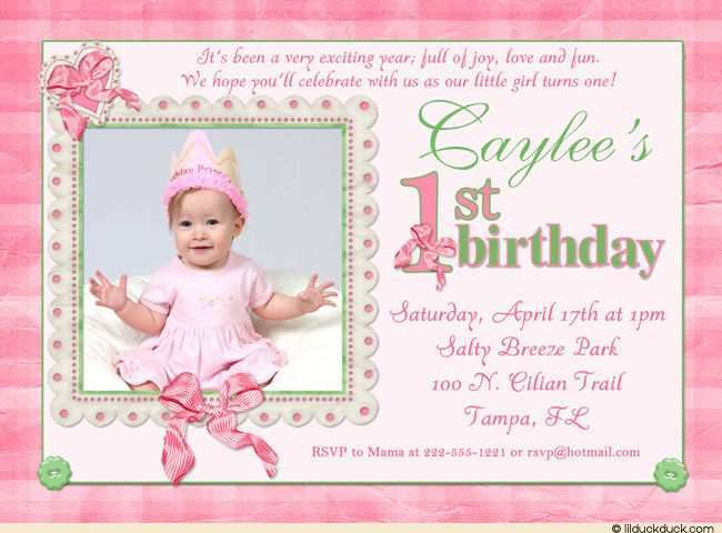 81 Report Birthday Invitation Template For Baby Girl in Word with Birthday Invitation Template For Baby Girl
