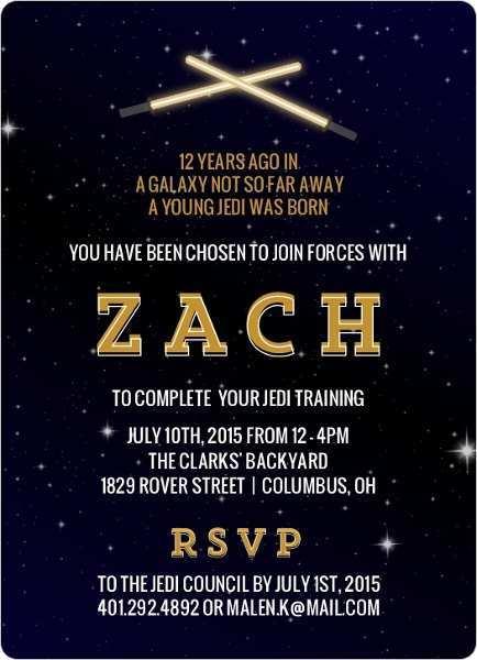 82 Best Star Wars Birthday Invitation Template Formating for Star Wars Birthday Invitation Template
