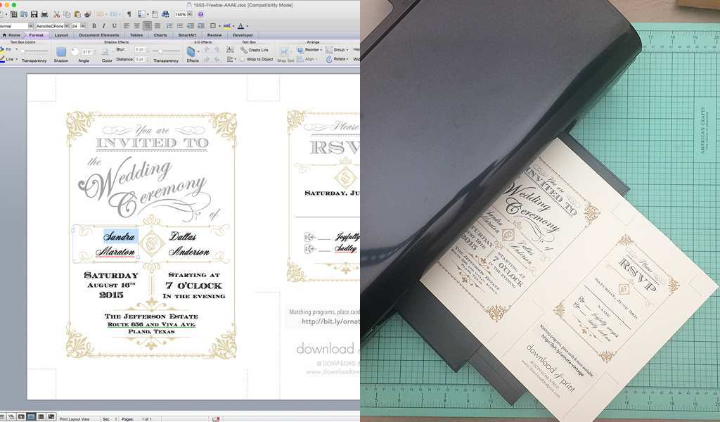 82 Blank Wedding Invitation Template Doc Download by Wedding Invitation Template Doc