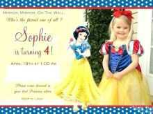 Birthday Invitation Template Snow White