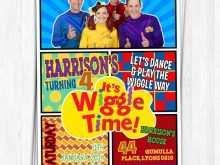 82 Create Wiggles Birthday Invitation Template With Stunning Design by Wiggles Birthday Invitation Template