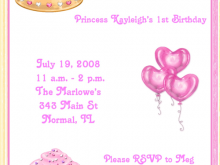 82 Free Printable Birthday Invitation Template Princess Layouts with Birthday Invitation Template Princess
