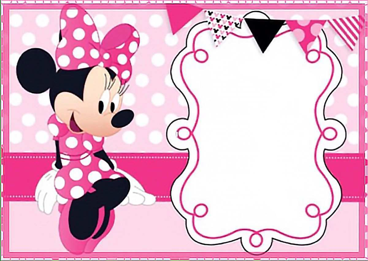 82 How To Create Birthday Invitation Template Minnie Mouse Maker with Birthday Invitation Template Minnie Mouse